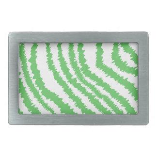Pattern of Wavy Green Stripes. Belt Buckle