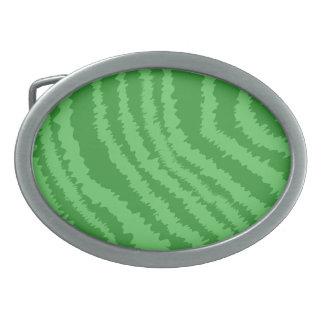 Pattern of Wavy Green Stripes. Belt Buckles