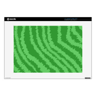 Pattern of Wavy Green Stripes. Decal For Laptop