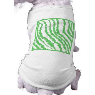 Pattern of Wavy Green Stripes. Dog Shirt