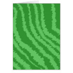Pattern of Wavy Green Stripes. Greeting Card