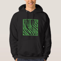 Pattern of Wavy Green Stripes. Hoodie