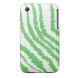 Pattern of Wavy Green Stripes. iPhone 3 Cases