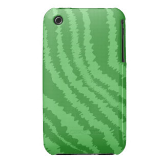 Pattern of Wavy Green Stripes. iPhone 3 Covers
