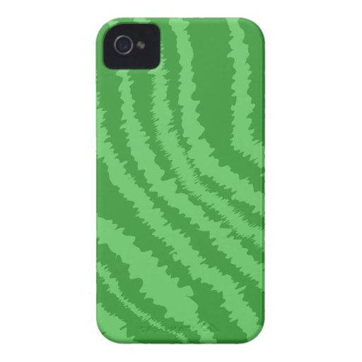 Pattern of Wavy Green Stripes. iPhone 4 Covers