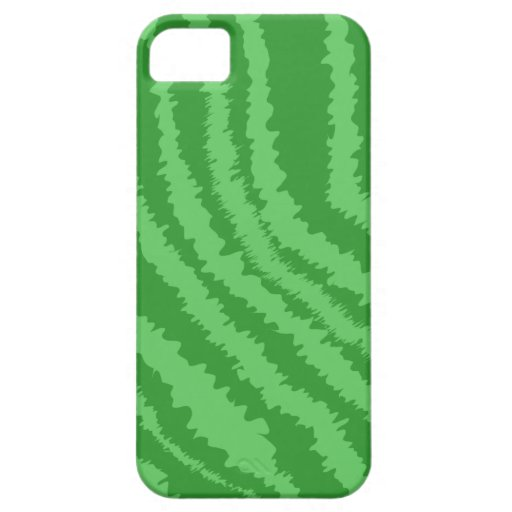 Pattern of Wavy Green Stripes. iPhone 5 Case
