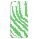 Pattern of Wavy Green Stripes. iPhone 5 Covers