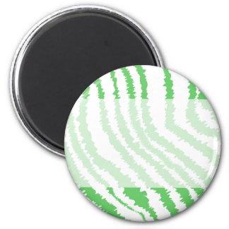 Pattern of Wavy Green Stripes. Magnet