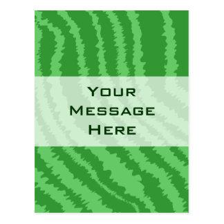Pattern of Wavy Green Stripes. Postcard