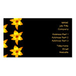 Pattern of Yellow Lilies on Black. Business Cards