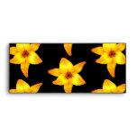 Pattern of Yellow Lilies on Black. Envelope