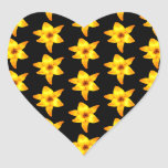 Pattern of Yellow Lilies on Black. Stickers