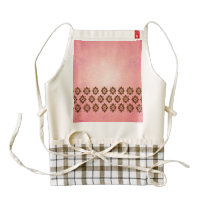 Pattern on pink background zazzle HEART apron