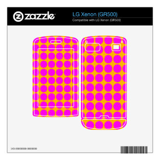 Pattern Orange Background with Pink Circles LG Xenon Decal