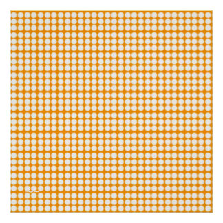 Pattern: Orange Background with White Circles Posters