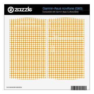 Pattern: Orange Background with White Circles Garmin Asus Nuvifone Skins