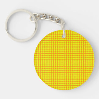 Pattern: Orange Background with Yellow Circles Keychain