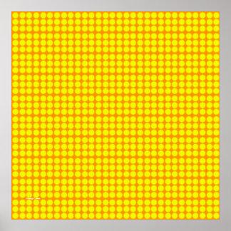 Pattern: Orange Background with Yellow Circles Print