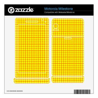 Pattern: Orange Background with Yellow Circles Motorola Milestone Decal