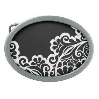 pattern oval belt buckle