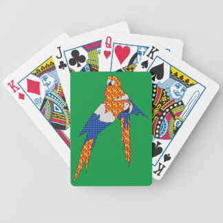 Pattern Parrots Bicycle Playing Cards