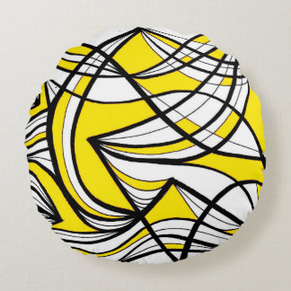 Pattern Perfect Crazy Marvelous Round Pillow