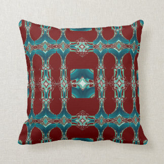 Pattern Pillow 4 Home Living on Red & Teal Blue