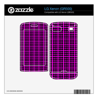 Pattern Pink Background with Black Circles Skins For LG Xenon