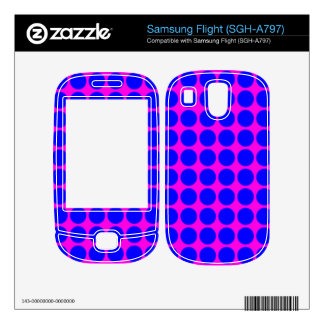 Pattern: Pink Background with Blue Circles Samsung Flight Decals