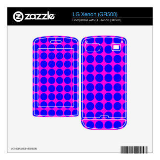 Pattern Pink Background with Blue Circles Decal For LG Xenon