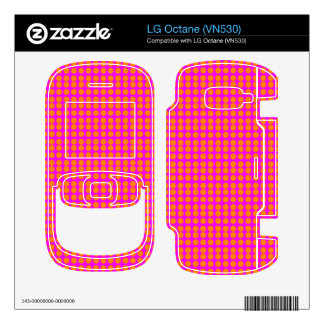 Pattern Pink Background with Orange Circles Skins For LG Octane