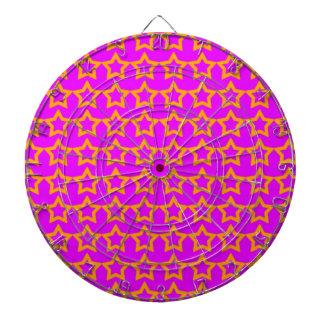 Pattern: Pink Background with Orange Stars Dartboard