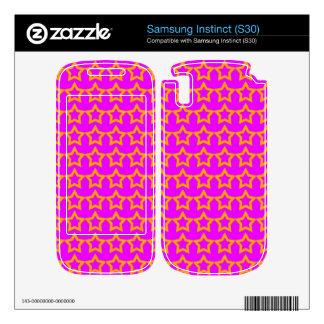 Pattern Pink Background with Orange Stars Samsung Instinct Decal