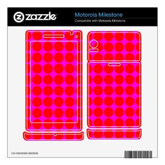 Pattern: Pink Background with Red Circles Motorola Milestone Decal