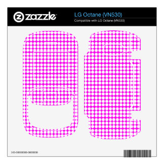 Pattern Pink Background with White Circles Skin For The LG Octane