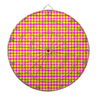 Pattern: Pink Background with Yellow Circles Dart Board