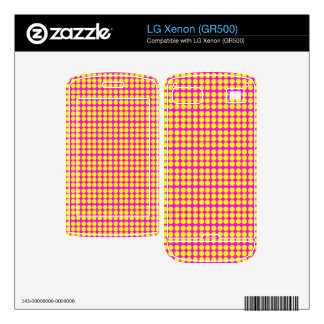 Pattern Pink Background with Yellow Circles LG Xenon Skin