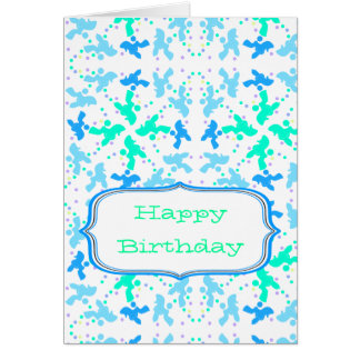 Pattern Poodle Greeting Card