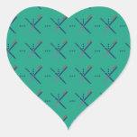 Pattern Portland Airport carpet Heart Sticker