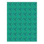 Pattern Portland Airport carpet Postcard