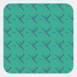 Pattern Portland Airport carpet Square Sticker