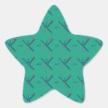 Pattern Portland Airport carpet Star Sticker