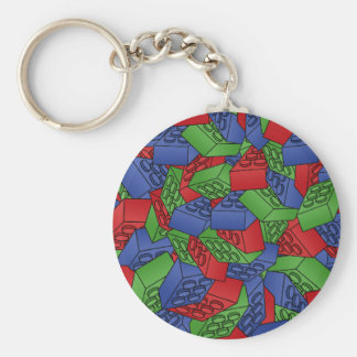 Pattern - Primary Colors Building Blocks Keychain