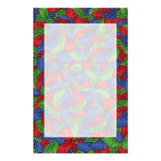 Pattern - Primary Colors Building Blocks Stationery