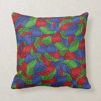 Pattern - Primary Colors Building Blocks Throw Pillow