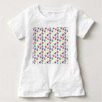 Pattern printed hands baby unisex suit baby romper