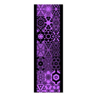 Pattern_purple mareado de los placeres tarjetas de negocios