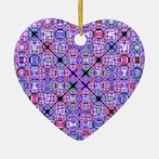 pattern purple no. 3 designed by Tutti Ceramic Ornament