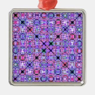 pattern purple no. 3 designed by Tutti Metal Ornament