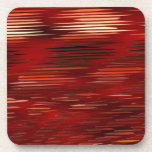 pattern red 1 created by Christine Bässler Drink Coasters